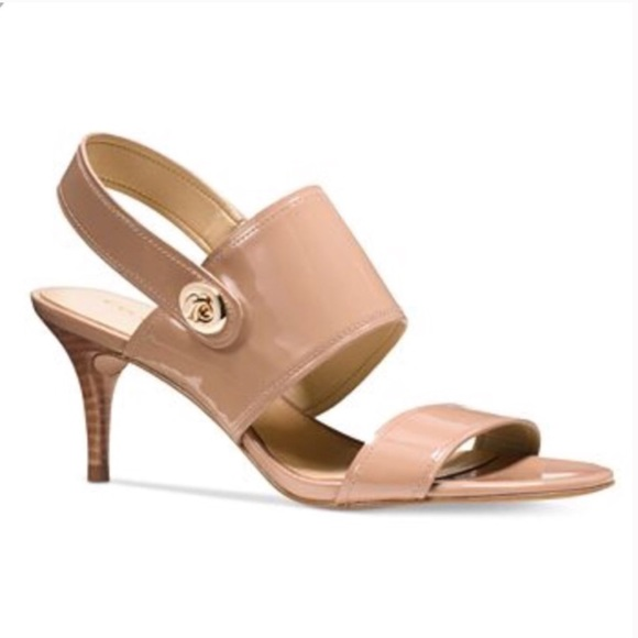 Coach Shoes - Coach Marla Turnlock Patent dress sandals blush 9
